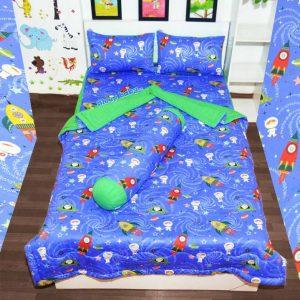 Ga giường cho bé trai SpaceX xanh dương