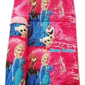 Nệm cho bé đi học Elsa hồng