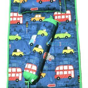 Bộ chăn gối cho bé tiểu học xe hơi