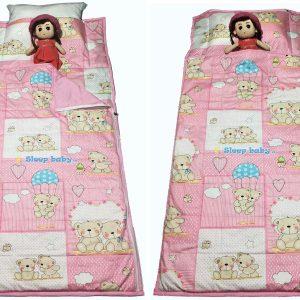 Túi ngủ cho bé gấu hồng