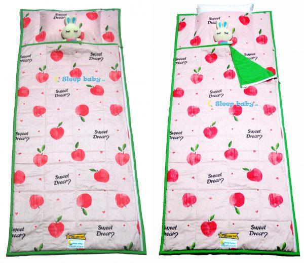 Túi ngủ trẻ em táo hồng
