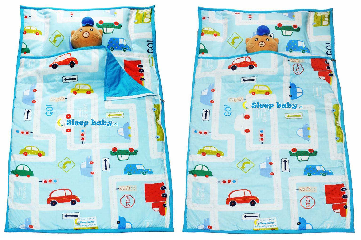 Túi ngủ cho bé mầm non xe hơi Go Car B18
