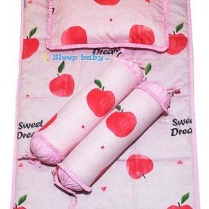 bộ nệm gối trẻ sơ sinh Táo hồng